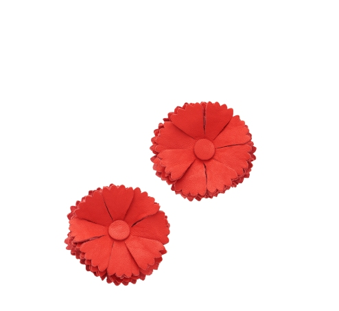Fiesta_Floral_Clip_Earrings_Red
