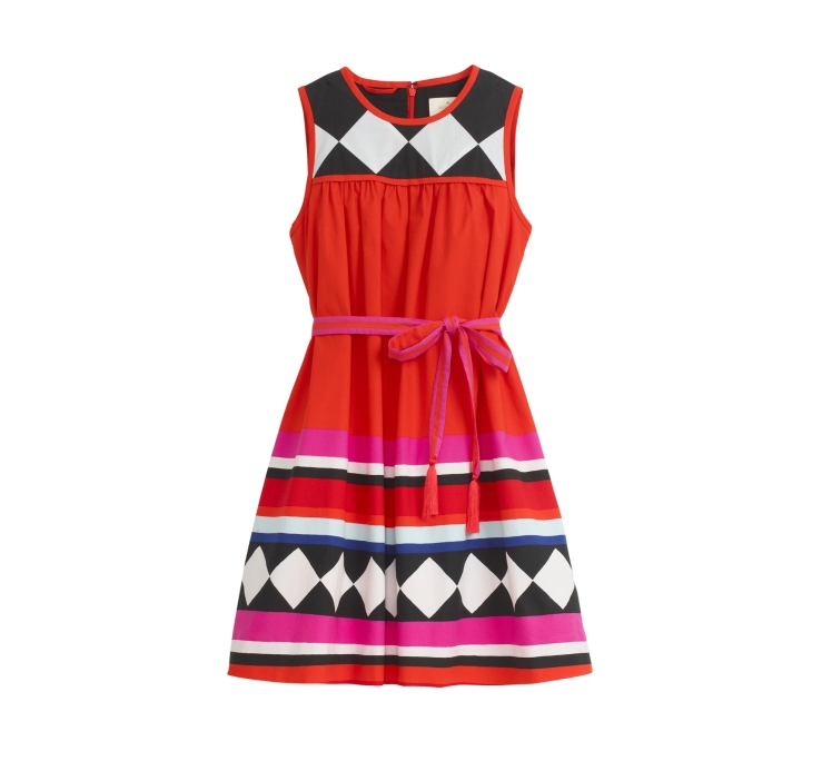Geo_Border_BabyDoll_Dress