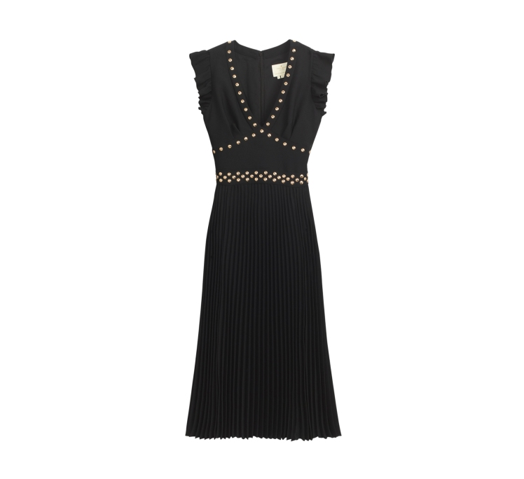 Pleated_Stud_Crepe_Dress
